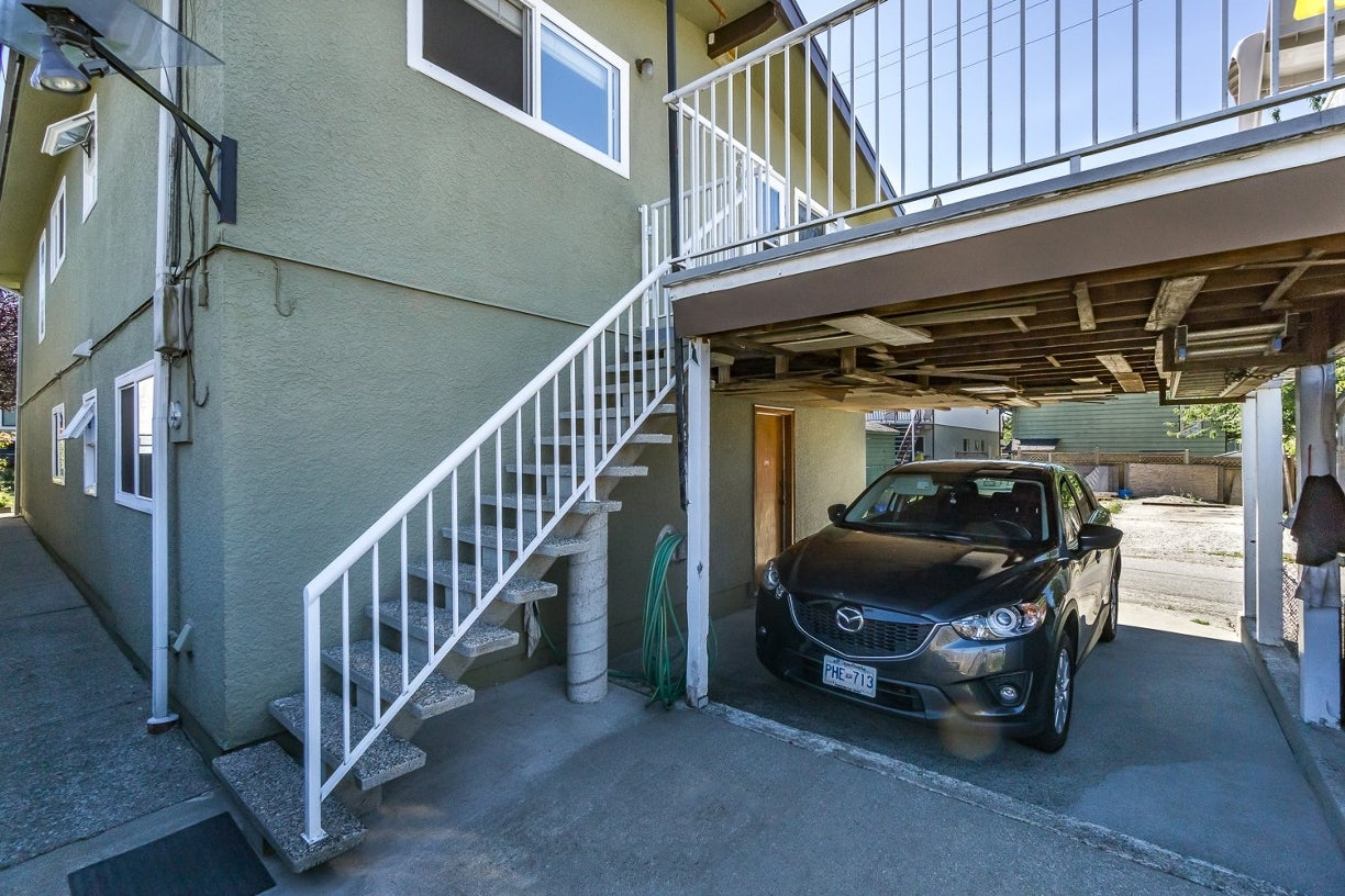 Parking & concrete staircase